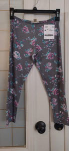 SELF ESTEEM grey floral leggings: 12-14