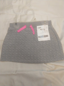 CAT & JACK grey/silver quilted skirt, SIZE 3T