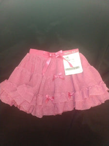 HELLO KITTY pink sparkly tiered ruffle skirt, SIZE 3T