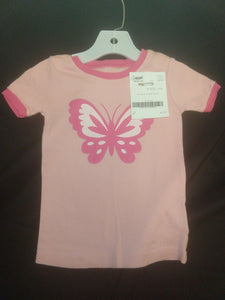 OLD NAVY pink butterfly SS shirt, SIZE 3T