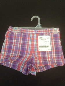 HEALTHTEX pink/purple plaid shorts with elastic waist, SIZE 5T