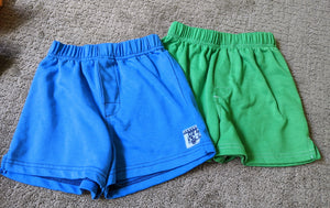 2pack carters cotton shorts, blue with truck and green, Size 4T