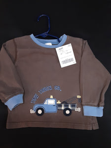 GYMBOREE brown truck shirt  Size 18-24m boys