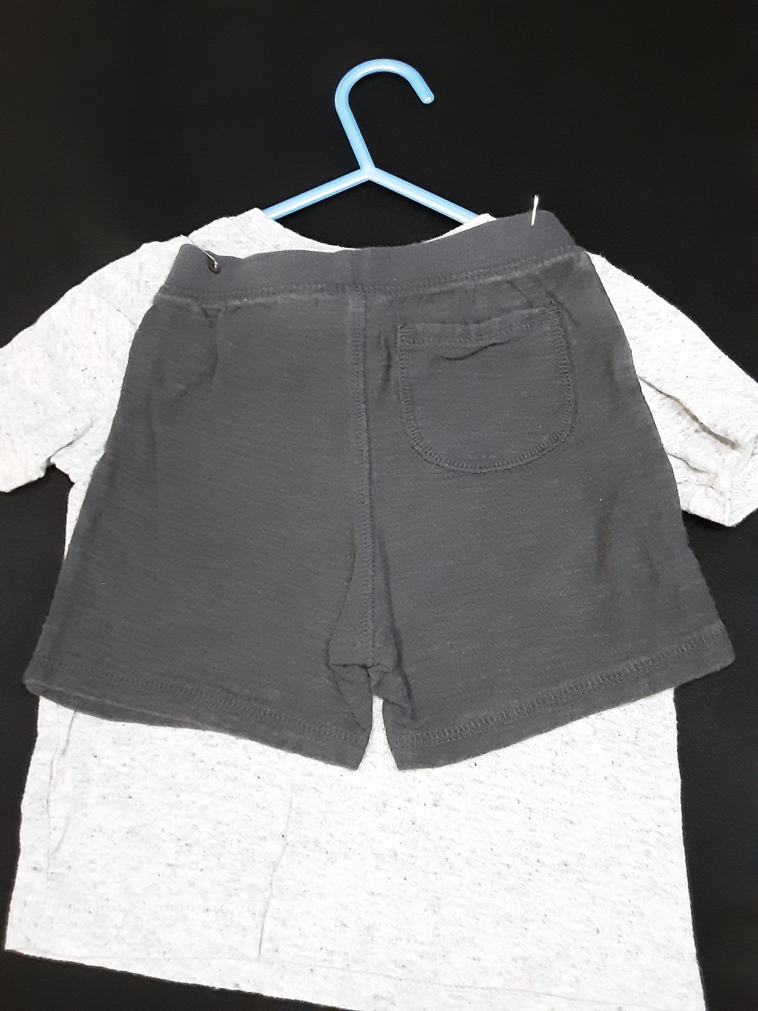 JUMPING  BEAN grey octopus shirt with dark grey shorts  Size 18m boys