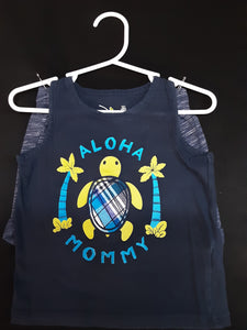 JUMPING BEAN blue turtle tank top with blue shorts Size 18m boys