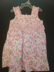 BONNIE BABY light pink floral dress, fully lined. SIZE 18M