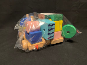 Wooden train blocks 21 pcs