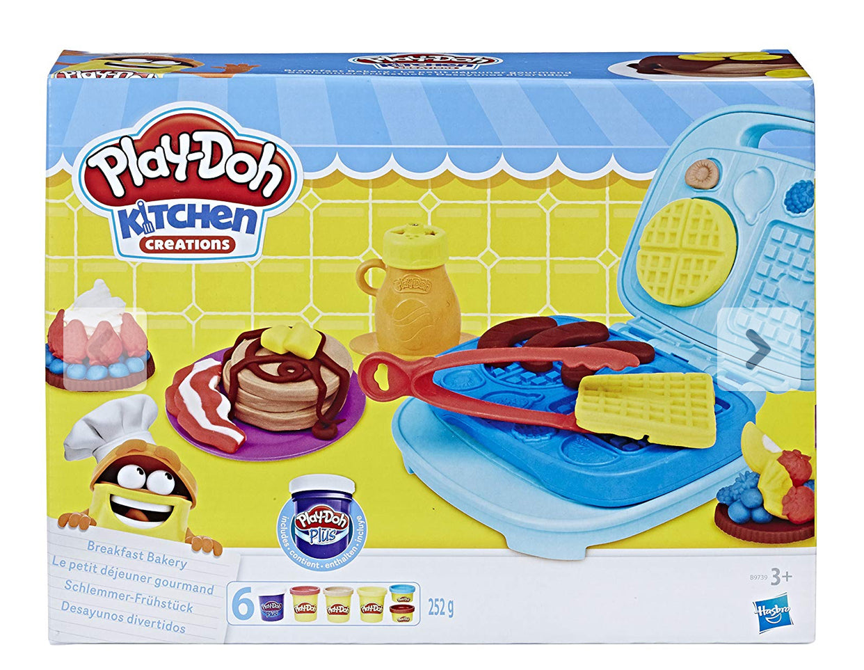 PLAY-DOH -  Kitchen Creations - Breakfast Bakery - 6 Cans - NEW!