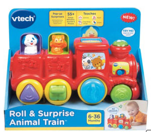 VTECH - Roll & Surprise Animal Train - 6 to 36 Mo - New!