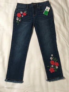 NWT - Dip Skinny Jeans with Flower Embroidery - Girls Size: 5