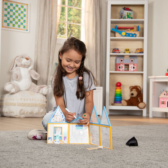 MELISSA & DOUG *NEW Magnetivity Draw & Build House