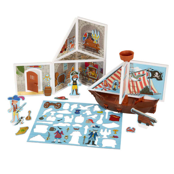 MELISSA & DOUG *NEW Magnetivity Pirate Cove Building Play Set