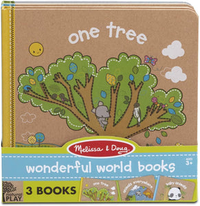 MELISSA & DOUG *NEW Natural Play Book Bundle