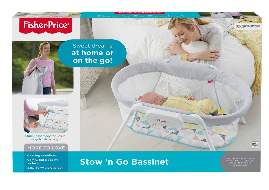 Fisher-Price Stow and Go bassinet- NEW in BOX