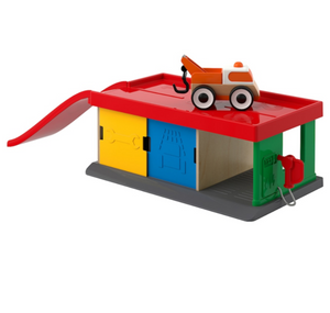 Ikea Lillabo Garage with ramp and 1 vehicle (tow truck)