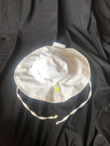 IPLAY.  White Adjustable Sunhat.  Has a tie to hold in place.  Size 2T
