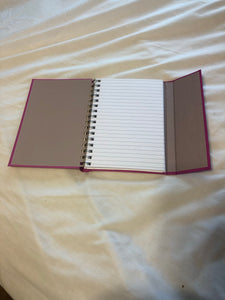 Pink Notebook w/ magnetic closure