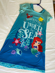 DISNEY STORE Ariel Nightgown, Size 9