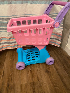 Play Circle pink and purple toddler shopping cart