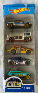 HOT WHEELS 5-pack Car Set *NEW City