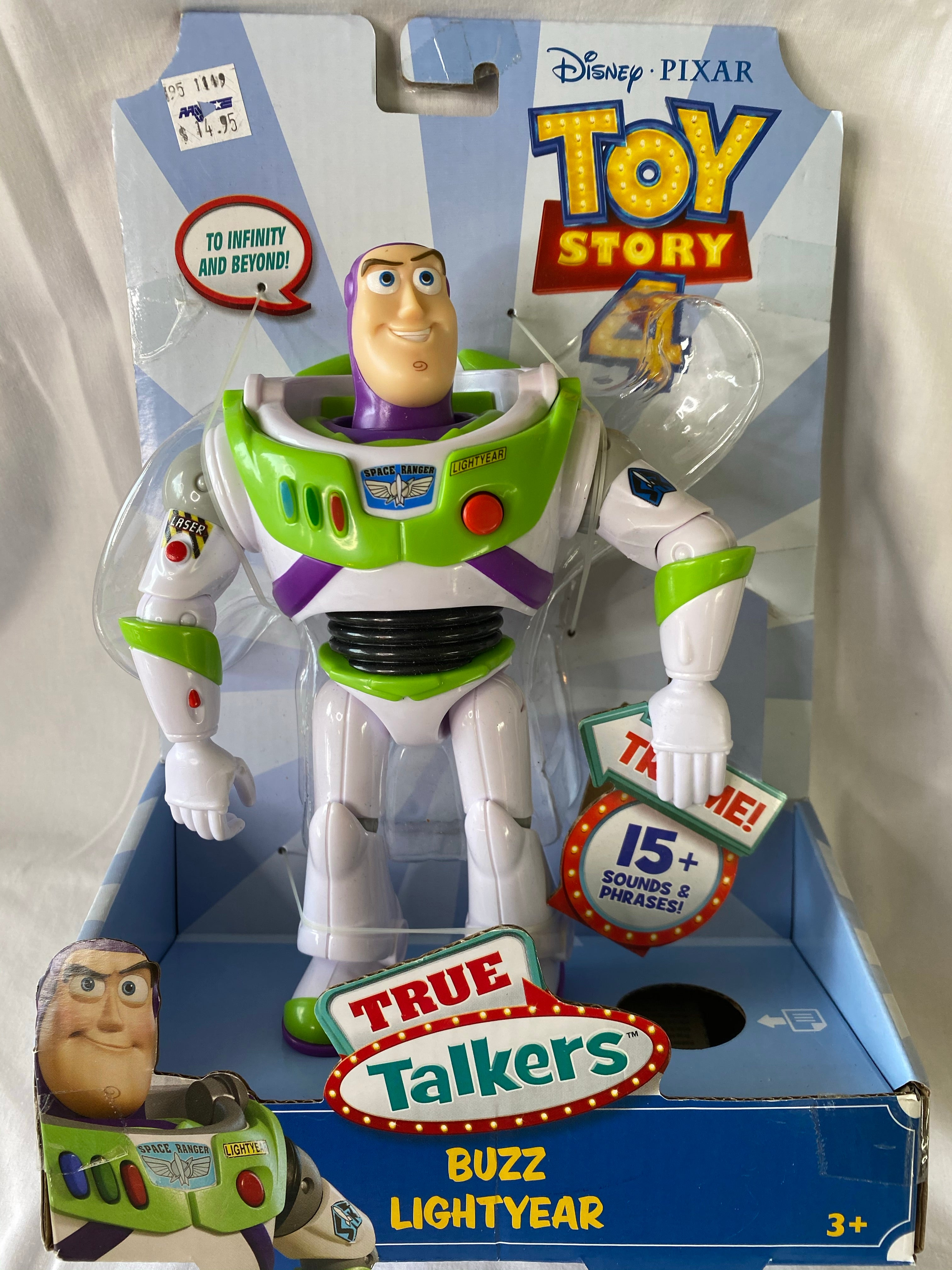 TOY STORY 4 True Talkers Buzz Lightyear with 15 sounds and Phrases *NEW Age 3+