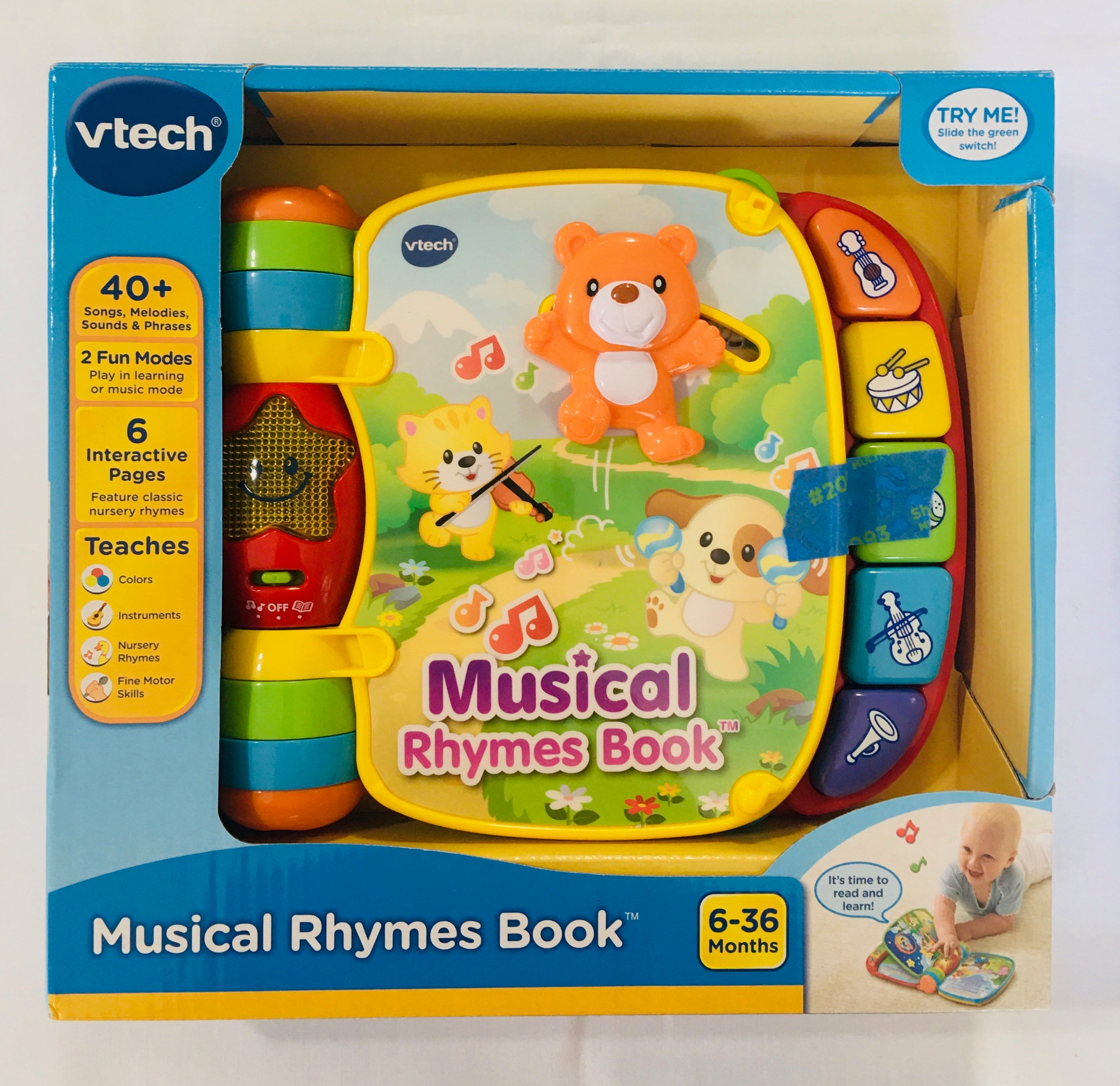 VTECH Muscial Rhymes Book *NEW 6-36m