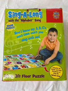 MASTER PIECES Alphabet Sing-A-Long Floor Puzzle 36 pc