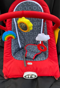 LITTLE TYKES space sit and play bouncer RED w/Gray dots