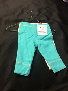 2 pc. CLOUD ISLAND Boys pants , grey & teal, size 3-6m
