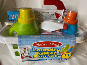 MELISSA & DOUG *NEW Laundry Basket Play Set