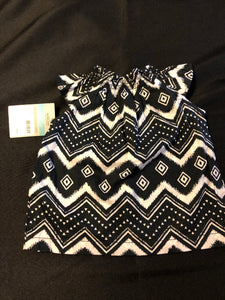 2 pc. CARTER'S *NWT* Black & White SS Top, CARTER'S White Shorts, Size 6m
