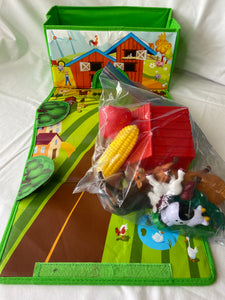 ToyTainer Fold Out Farm Play Set with 12 pieces