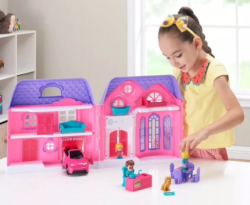 Kids connection folding doll house play set 20 PCS age 3+