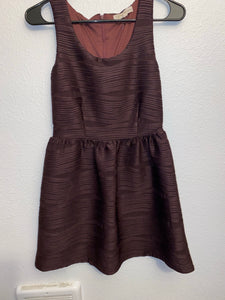 Rewind Burgandy dress with zipper up back;Small