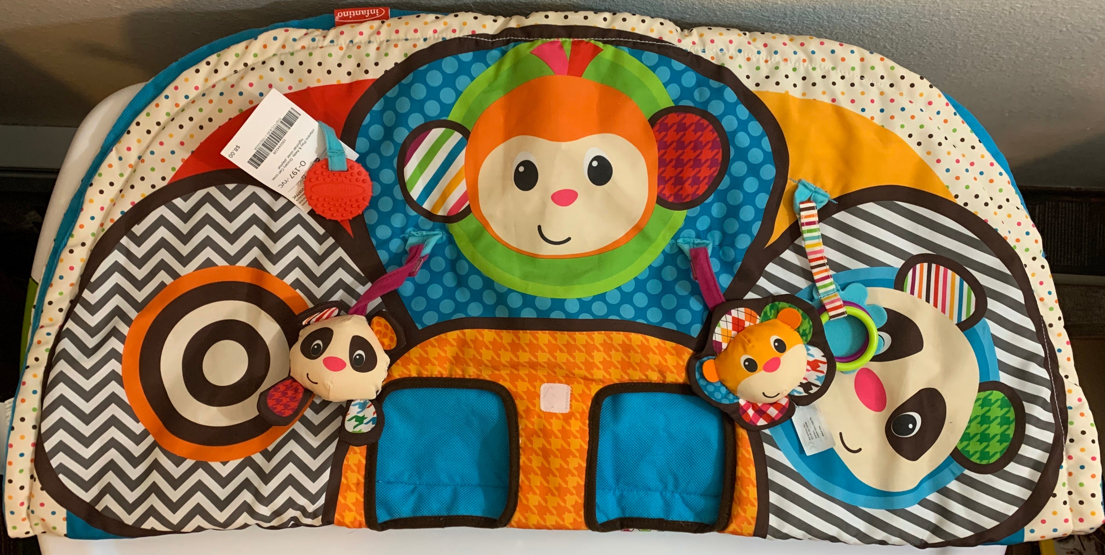 Infantino Play & Away Grocery Cart Cover, Highchair Cover, Playmat