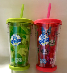 Insulated 12 oz Tumbler with Spill Proof Lid and Straw – NEW