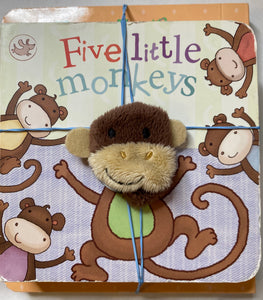 Old McDonald and 5 Little Monkeys Board Books - Set of 2