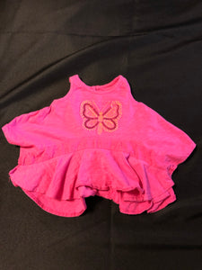 2 pc. KOALA KIDS Blue Tie dye tank top, KOALA KIDS Pink Tank with Butterfly, size 6-9m