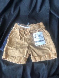 CAT & JACK.   Shorts. Brown with Pockets.  Size 18 months