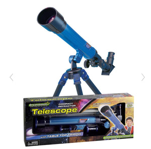 Jr SCIENCE EXPLORER Compact Refractor Telescope with Table Top Tripod *NEW