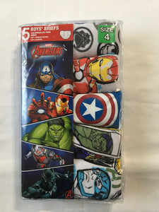 AVENGERS Boys Briefs  L *NEW  5pk SIZE 4