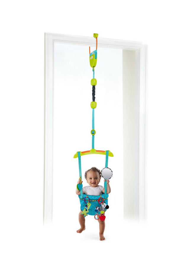 Bright Starts Bounce 'n Spring Deluxe Door Jumper with Take-Along Toys, Ages 6 months+ (missing a few toys but any linking toys will work)