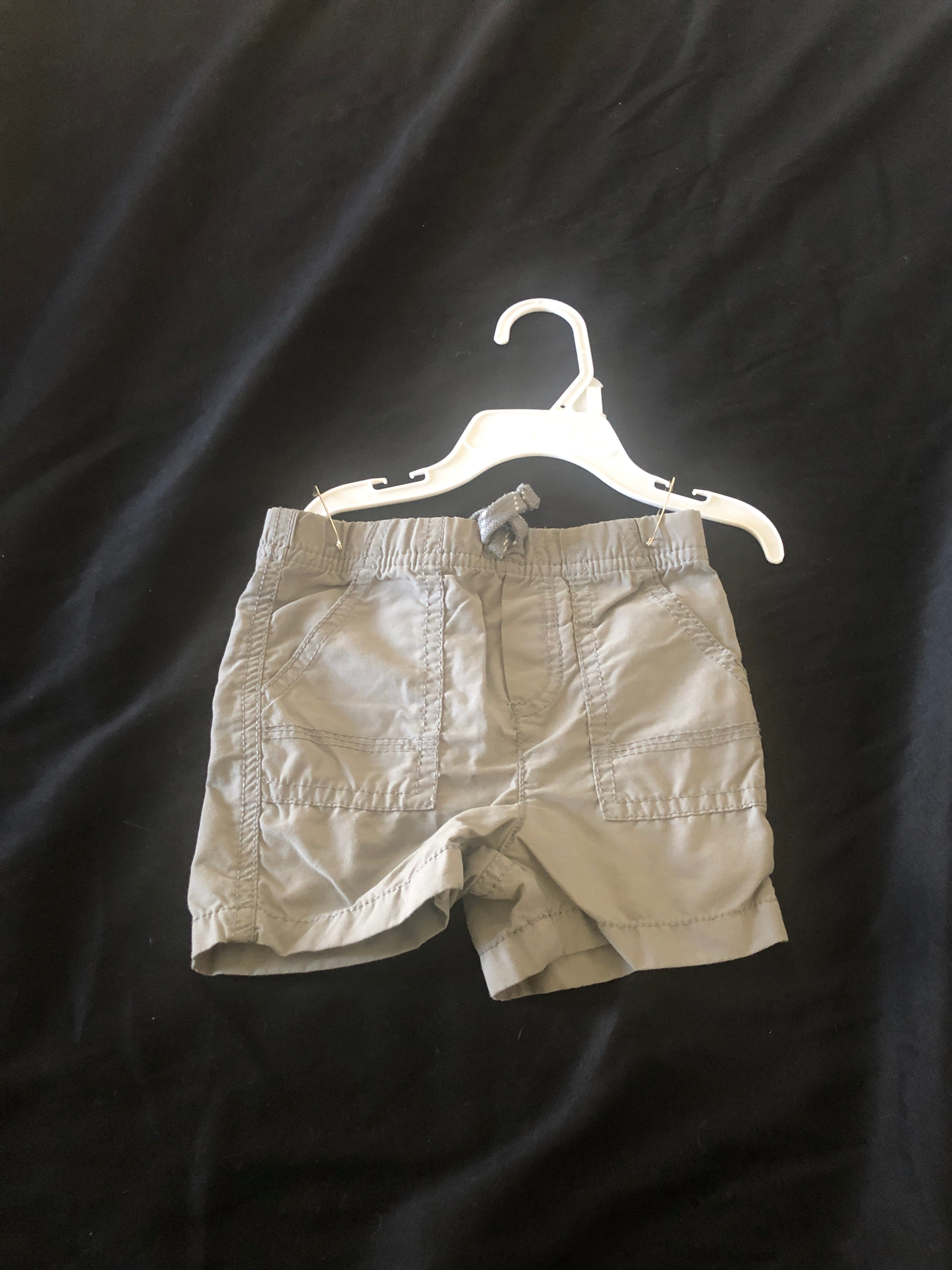 JUMPING BEAN.  Gray Shorts.  Size 12 months