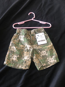 OLD NAVY.  Shorts.  Camouflage with Skulls.  Size 18-24 months