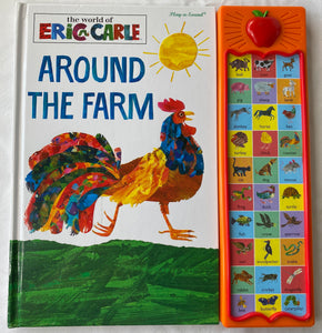 ERIC CARLE Around the Farm Interactive Animal Sound Book