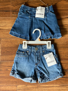Girls jean shorts and skort, Multiple, Size 5