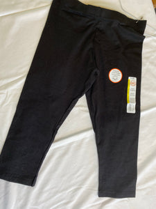 WONDER NATION Black Capri Leggings NWT Size 10-12