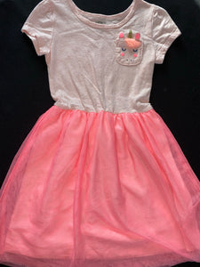 Carter's Pink dress w/ thule skirt and pony pocket; 4/5