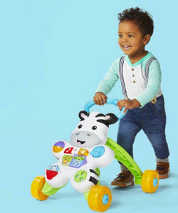 FISHER PRICE *NEW Learn with Me Zebra Walker