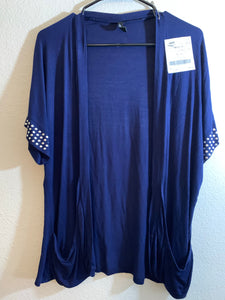JASON MAXWELL Junior's Size Large Blue Coverup